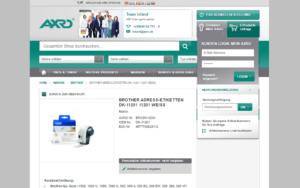 AXRO Magento Referenz Screenshot 4