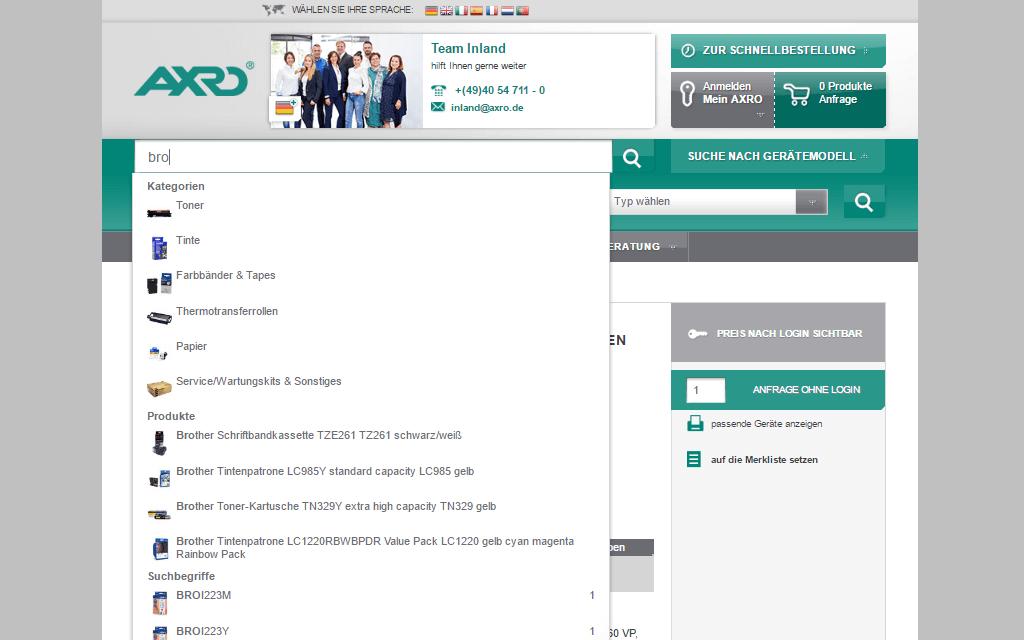 AXRO Magento Referenz Screenshot 5