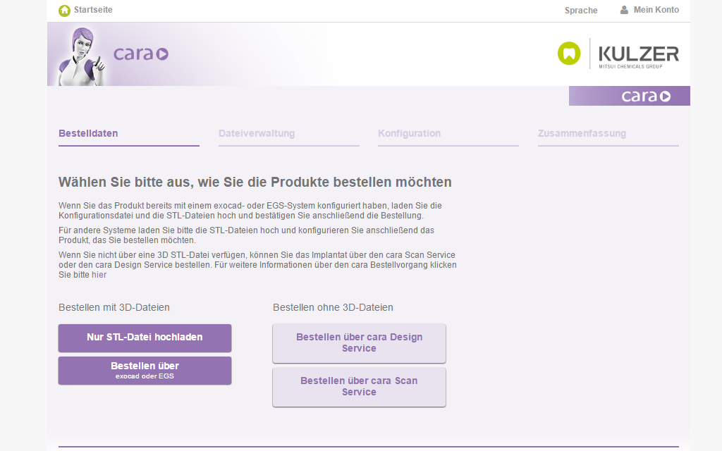 Kulzer Magento B2B Referenz Screenshot 1