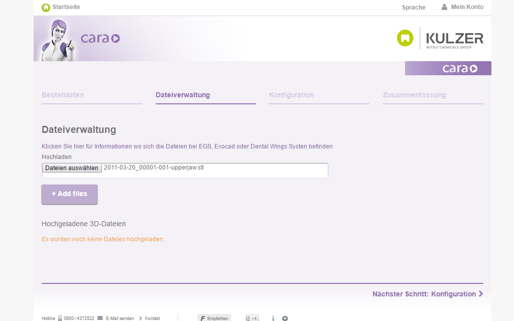 Kulzer Magento B2B Referenz Screenshot 2
