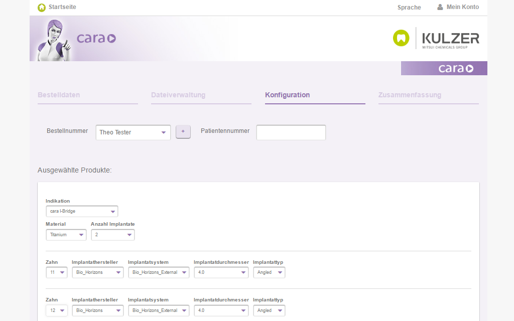 Kulzer Magento B2B Referenz Screenshot 4