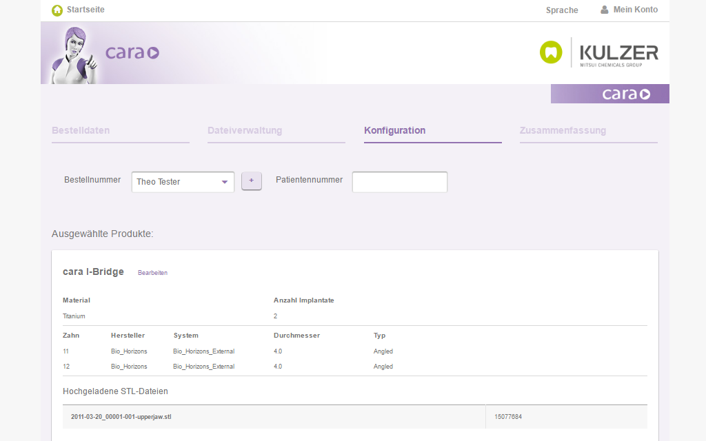 Kulzer Magento B2B Referenz Screenshot 5