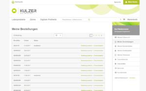 Kulzer Magento B2B Referenz Screenshot 8