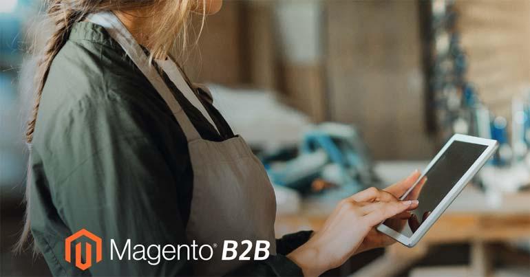 Magento B2B Edition Header