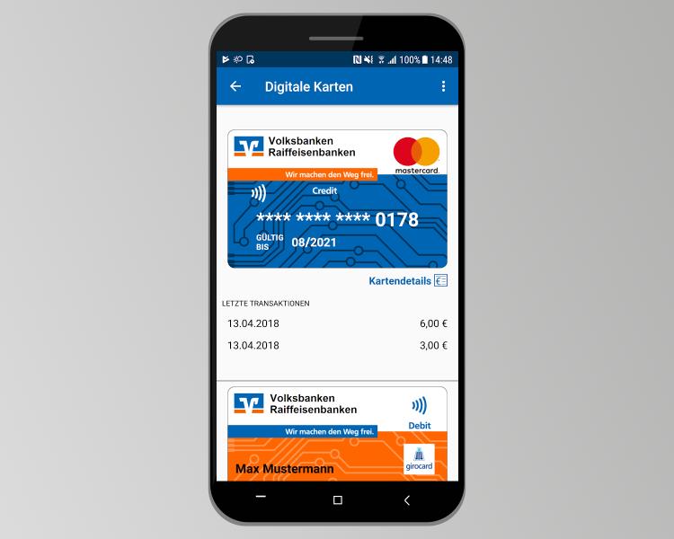 Mobile Payment-App der VR-Bank (Quelle: Play Store, Montage: netz98)