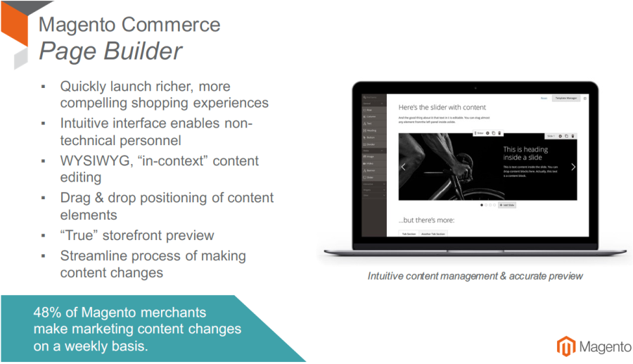 Page Builder / Quelle: Magento
