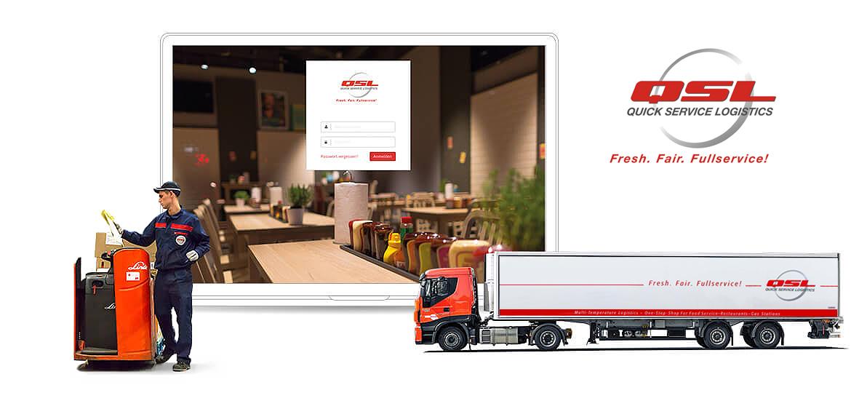 QSL Logistik Referenzen Screen