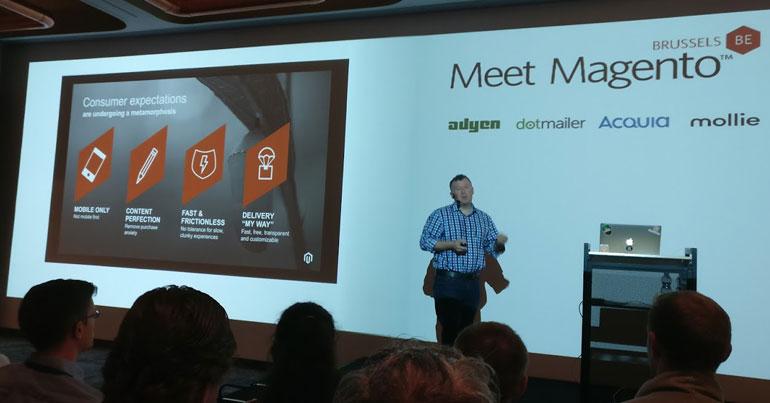 netz98 war ein Unternehmen von vielen, dass Speaker auf der Meet Magento in Brüssel hatte.