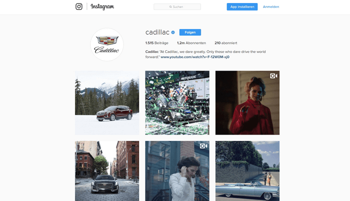 instagram cadillac