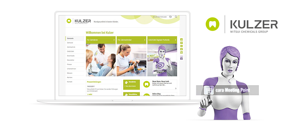 Kulzer Magento B2B Referenzen Screen