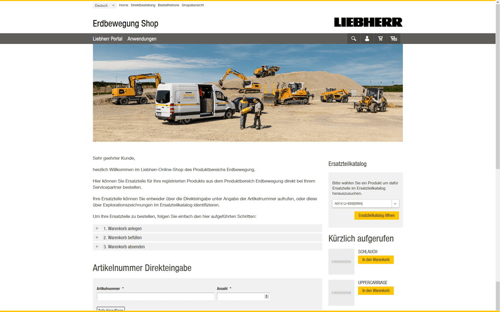 Liebherr Magento2 Referenzen Screenshot1
