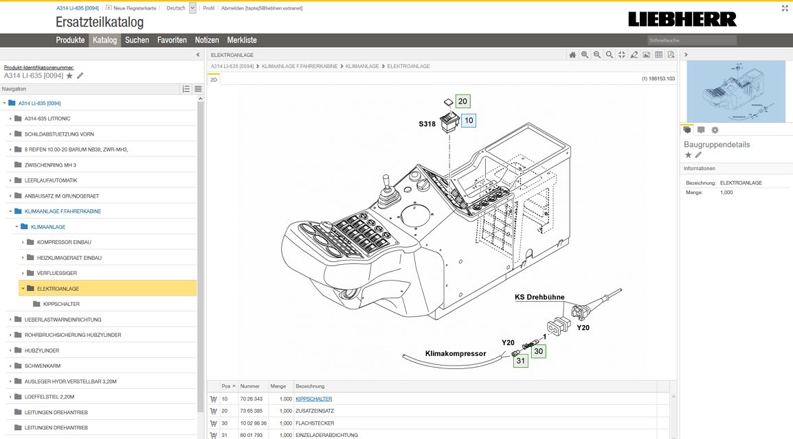 Liebherr Magento2 Referenzen Screenshot3