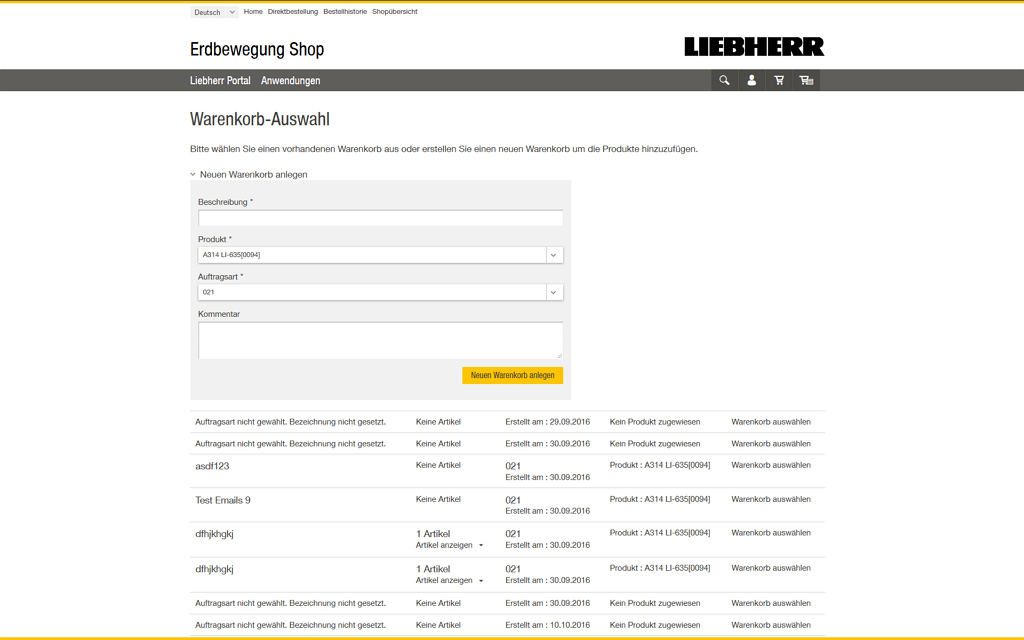 Liebherr Magento2 Referenzen Screenshot4