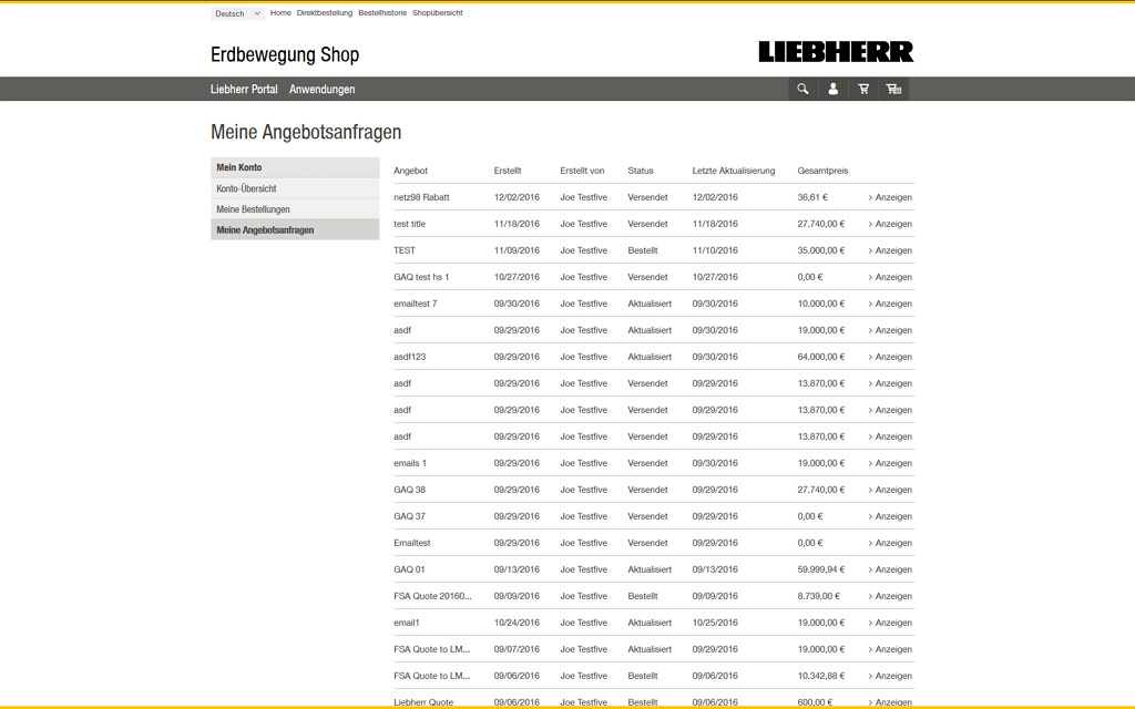 Liebherr Magento2 Referenzen Screenshot5