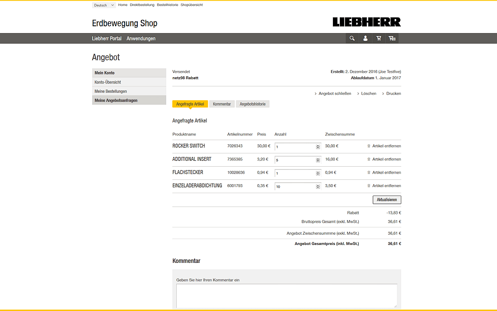 Liebherr Magento2 Referenzen Screenshot6