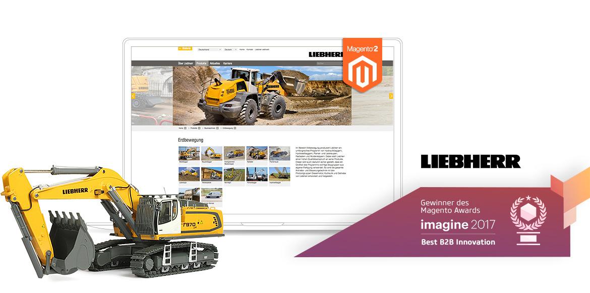 Liebherr Magento2 Referenzen Screen