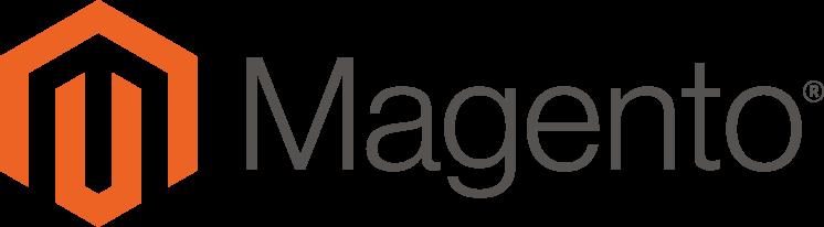 Magento Logo quer grau/orange