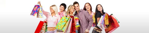 glücklich shoppen