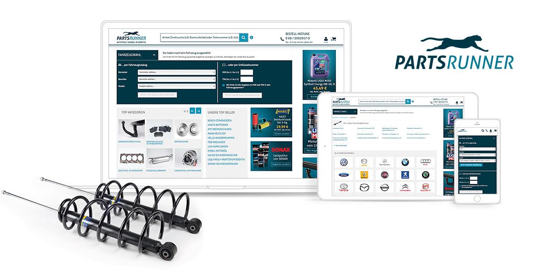Partsrunner Magento Automotive Referenzen Screen