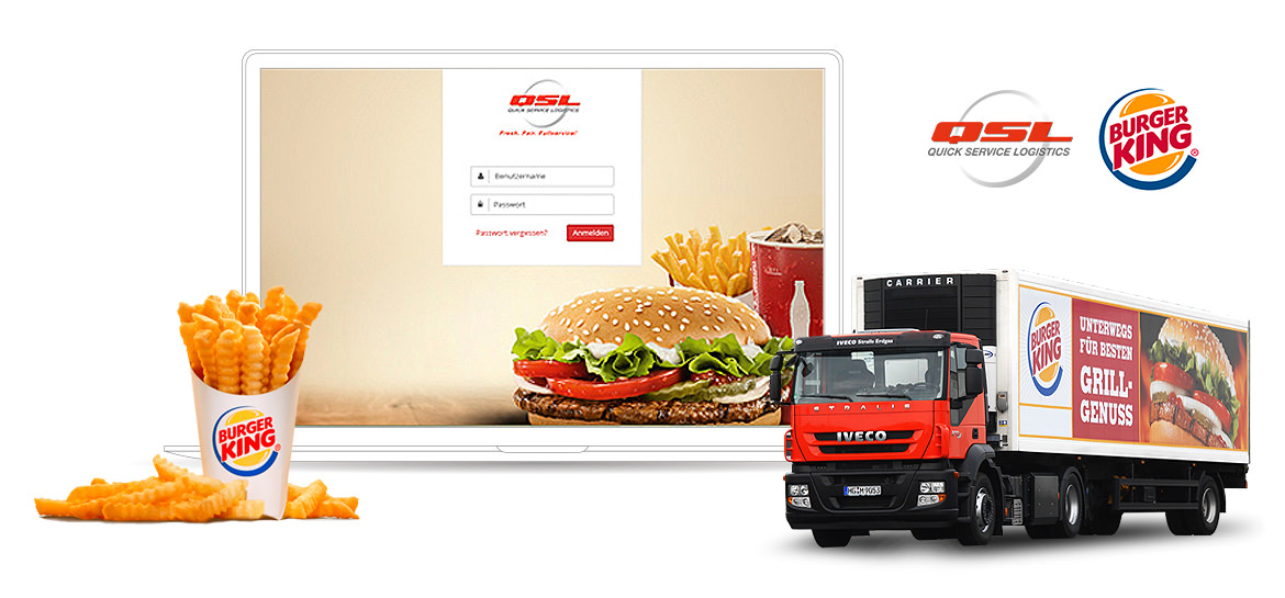 QSL Burger King Logistik Referenzen Screen