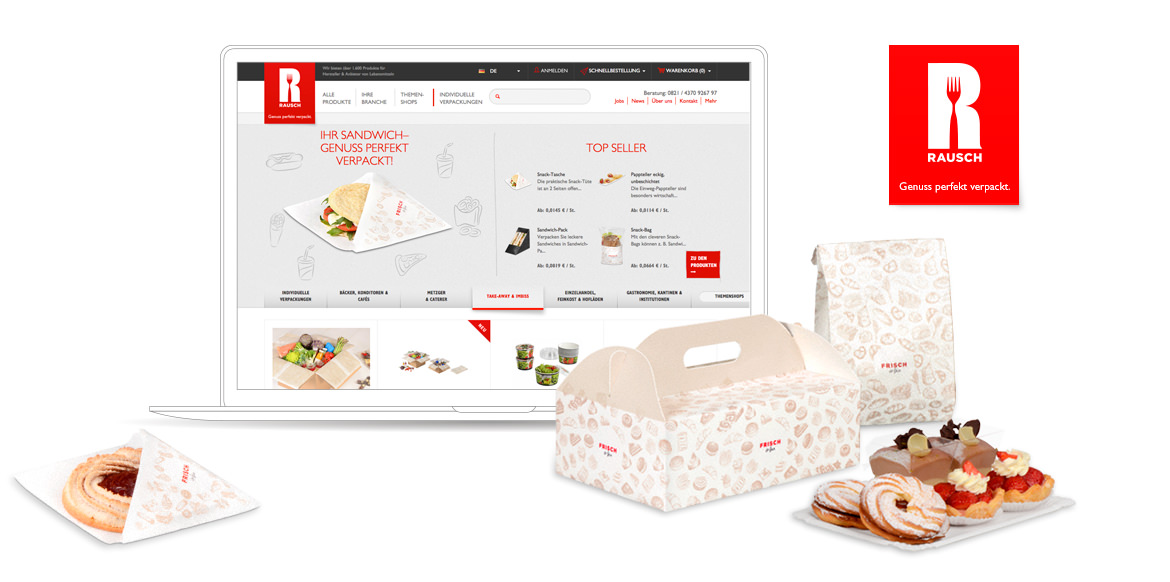Rausch Magento B2B Plattform Screen