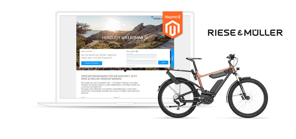 Riese & Müller Magento 2 Referenzen Screen