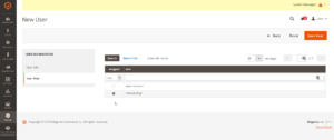 Rechte und Rollen in Magento - New User